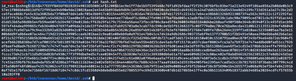 Converting ssh to john for cracking